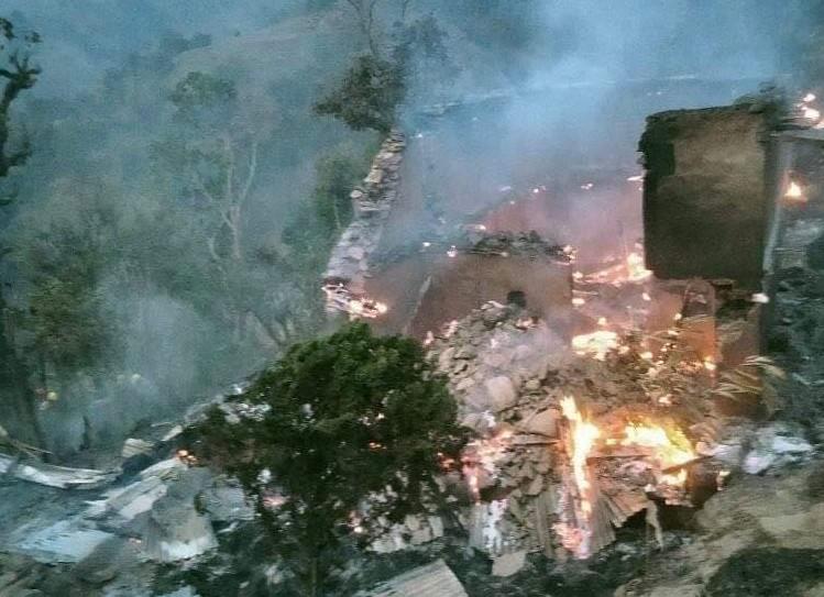 भोजपुरमा आगलागीबाट ४ घर जलेर नष्ट