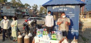 राष्ट्रिय युवा संघ पथरी शनिश्चरे नगर कमिटीद्वारा अक्सिजन सहितको कोरोना सहायता कक्ष स्थापना