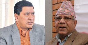 माधव नेपाल र नारायणकाजी श्रेष्ठबीच भेटवार्ता