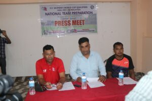 नेपाली महिला क्रिकेट टोलीले इटहरीमा प्रशिक्षण सुरु